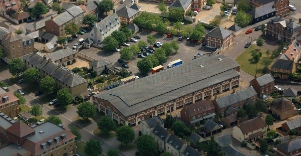 The Loop Technology Centre in Poundbury, Dorchester from an aerial view