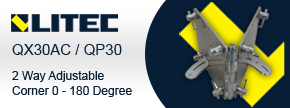Litec QX30AC / QP30 2 Way Adjustable Corner 0 - 180 Degree - Find out more...