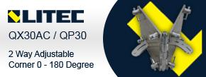 Litec QX30AC / QP30 2 Way Adjustable Corner 0 - 180 Degree - Find out more...