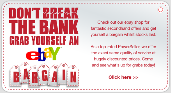 Check out our ebay shop for more secondhand offers - click here...