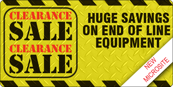 Clearance Sale - click here for the new microsite