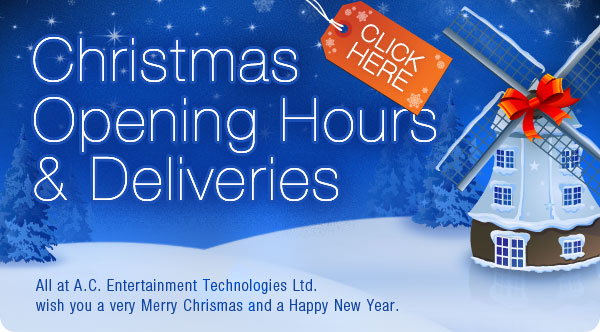 Christmas Opening Hours & Deliveries - Click Here