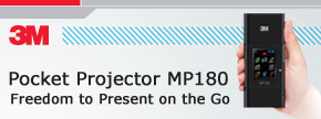 3M Pocket Projector MP180. Freedom to Present on the Go...Find out more