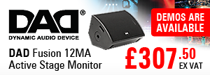 DAD - Dynamic Audio Device Fusion 12MA Active Stage Monitor - RRP £307.50 EX VAT