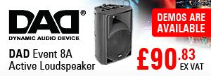 DAD - Dynamic Audio Device Event 8A Active Loudspeaker - RRP £90.83 EX VAT