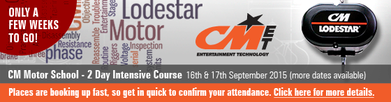 Columbus McKinnon Motor School - 2 Day Intensive Course 16th & 17th September 2015 (more dates available). Places are booking up fast, so get in quick to confirm your attendance. Only a few weeks to go! Click here for more details.