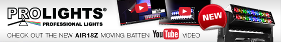 Prolights - Check out the NEW Air 18Z Moving Batten You Tube video