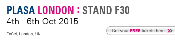 Plasa London : Stand F30 - 4th - 6th Oct 2015, ExCel, London, UK. Get your FREE tickets here.