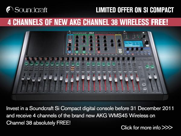 4 Channels of New AKG Channel 38 Wireless Free