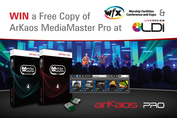 WIN a Free Copy of ArKaos MediaMaster Pro at WFX & LDi